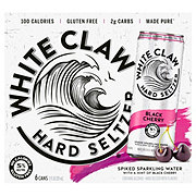 White Claw Hard Seltzer Black Cherry 12 oz Cans