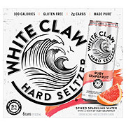 White Claw Ruby Grapefruit Hard Seltzer 12 oz Cans