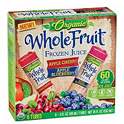 Whole Fruit Organic Apple Cheery and Apple Blueberry Frozen Juice