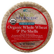 Wholly Wholesome Bake At Home Healthy 9 in  Pie Shells Whole Wheat