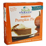 Wholly Wholesome Bake At Home Pumpkin Pie