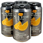 Wild Poppy Organic Orange Soda 12 oz Cans