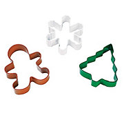 Wilton 3 Piece Holiday Metal Cookie Cutters