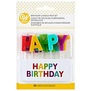 Wilton Happy Birthday 3 in High Candle Pick Set