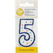 Wilton Number Five Candle