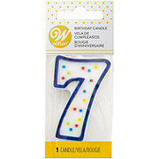Wilton Number Seven Candle