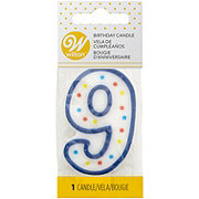 Wilton Numeral 9 Party Candle