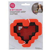Wilton Ro Comfort Grip Pixel Heart Cookie Cutter