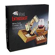 Wine Enthusiast Cork Coaster Kit
