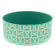 Winifred & Lily Turquoise Bone Pet Bowl 7 Inch