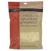 Wisconsin Premium Finely Shredded Cheddar Gruyere Asiago Natural Cheese