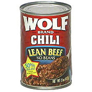 Wolf Lean Beef Chili No Beans