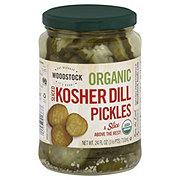 Woodstock Dill Kosher Sliced Organic Pickles