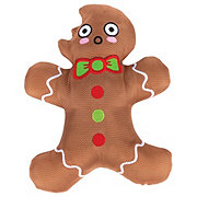Woof and Whiskers Gingerbread Man With Bite Plush Dog Toy