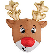Woof and Whiskers Reindeer Head with Antlers Plush Dog Toy