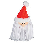 Woof and Whiskers Santa Head With Beard Plush Dog Toy
