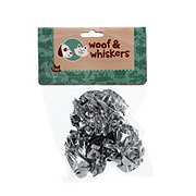 Woof and Whiskers Silver Mylar Crinkle Ball