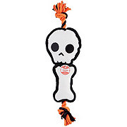 Woof and Whiskers Skull & Bone Plush Rope Dog Toy