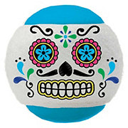 Woof And Whiskers Skull Tennis Ball Blue White