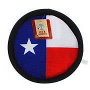 Woof and Whiskers Texas Flag Soft Frisbee
