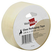 WORK SOLUTIONS Clear Packaging Tape 1.89 inx110 yd