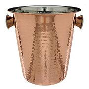 Worldinox Hammered Copper Wine Bucket with Plating