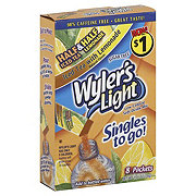 Wyler's Light Singles to Go! Half and Half Iced Tea with Lemonade Drink Mix