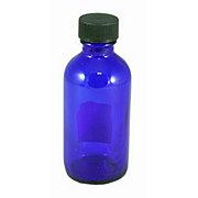 WYNDMERE Glass Bottle with cap Cobalt Blue