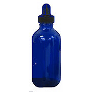 Wyndmere Naturals Glass Bottle Cobalt Blue