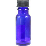 Wyndmere Naturals Glass Bottle W/cap Cobalt Blue