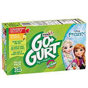 Yoplait GoGurt Strawberry Ice Castle and Vanilla Flurries Yogurt