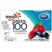 Yoplait Greek 100 Calories Mixed Berry Yogurt. Select options for price. Rating is 0 stars out of 5 stars
