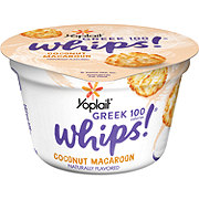 Yoplait Greek 100 Whips! Coconut Macaroon Greek Yogurt