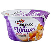 Yoplait Greek 100 Whips! Peaches 'n Cream Greek Yogurt