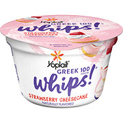Yoplait Greek 100 Whips! Strawberry Cheesecake Yogurt