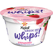 Yoplait Greek 100 Whips! Strawberry Yogurt