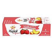 Yoplait Original Low Fat Strawberry/ Harvest Peach Fridge Pack Yogurt