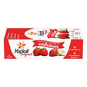 Yoplait Original Low-Fat Strawberry & Strawberry Banana Yogurt