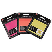 Z International Highlighter Sticky Notes, Colors May Vary
