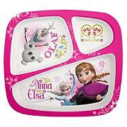 Zak! Designs Disney Frozen Divided Plates for Kids