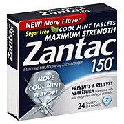 Zantac 150 Maximum Strength Cool Mint Acid Reducer Tablets