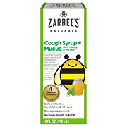 Zarbee's Naturals Children's Cough Syrup + Mucus Relief, Grape