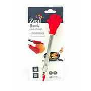 Zeal Red Silicone Handy Cooks Tongs