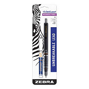 Zebra Pen Delguard Mechanical Pencil 0.5Mm Black Barrel With Bonus Lead