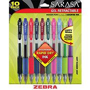 Zebra Sarasa Gel Retractable Ball Point Pen, Assorted Ink