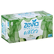 Zevia Lime Sparkling Water 12 oz Cans