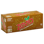 Zevia Natural Diet Soda Cream Soda, 12 OZ cans