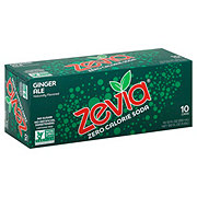 Zevia Natural Diet Soda Ginger Ale, 12 OZ cans