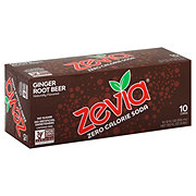 Zevia Natural Diet Soda Ginger Root Beer, 12 OZ cans