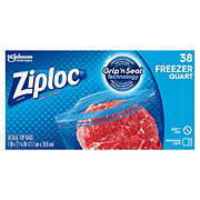Ziploc Double Zipper Freezer Quart Bags Value Pack